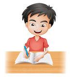 smiling-boy-writing-28723724