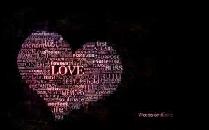 word heart wallpaper