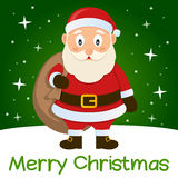 green-christmas-card-santa-claus-merry-cartoon