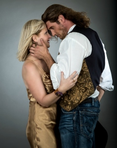 Cover model Michael Foster with Beth Carter
