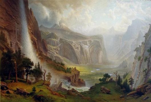 Albert Bierstadt Domes of the Yosemite, 1986 oil/canvas (10'H x 15'W)