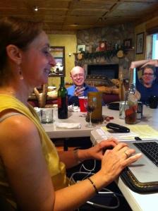 Carole At Taos Toolbox with Jeff Dunteman and Fiona Lehn