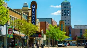 Ann Arbor Downtown Scene