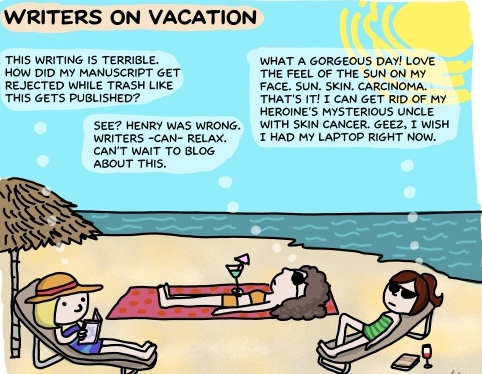writers on vacation
